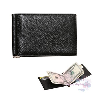 78c44150715e ▷FD◁ Simple Fashion Men Short Purse Solid Color Soft Leather Ultrathin Card  Holder Money Clip Man Clutch Bag Wallet