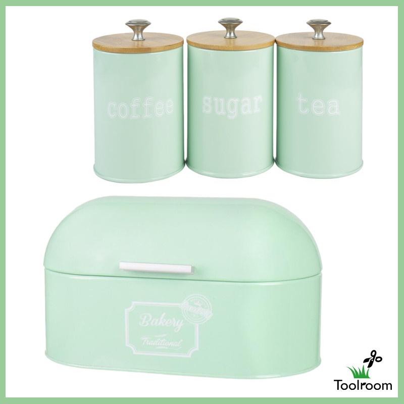 Toolroom Metal Bread Box Storage, Metal Storage Canisters