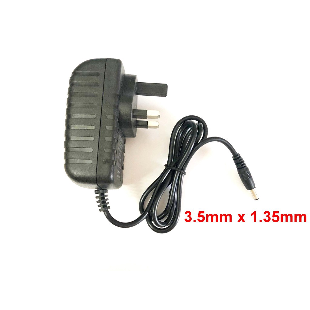 UK AC 100V-240V DC 12V 1A Switching Power Supply 1000mA Adaptor 3.5mm x 1.35mm
