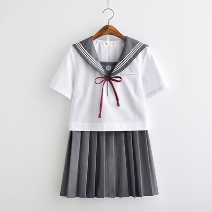 1180b31c6b9a Summer small fresh embroidery soft sister JK uniform Japanese short ...