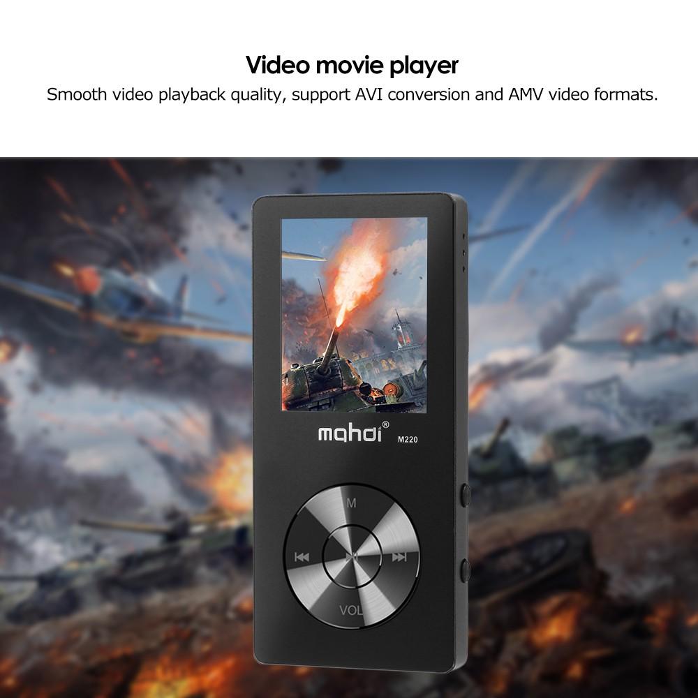mahdi M220 8GB MP3 MP4 Digital Player Zinc Alloy 1 8 Inches