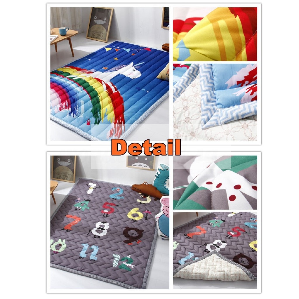 194x145CM Extra Thick Large Baby Floor Rug Soft Rectangle Modern kids Play Mat