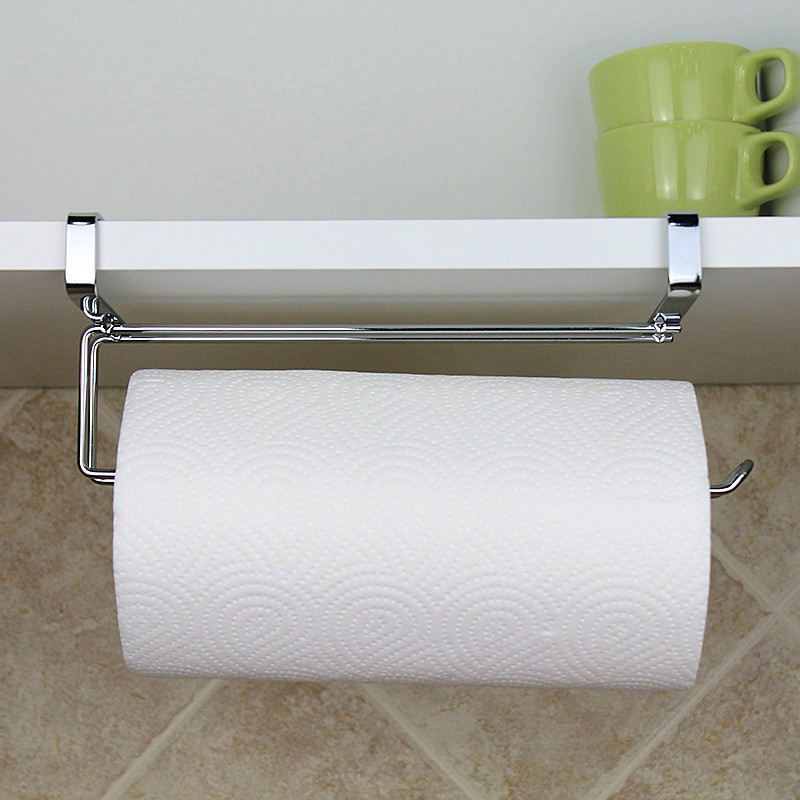 1 Pc Paper Towel Holder Kitchen Magnet Garbage Bags Organizer For Microwave Oven