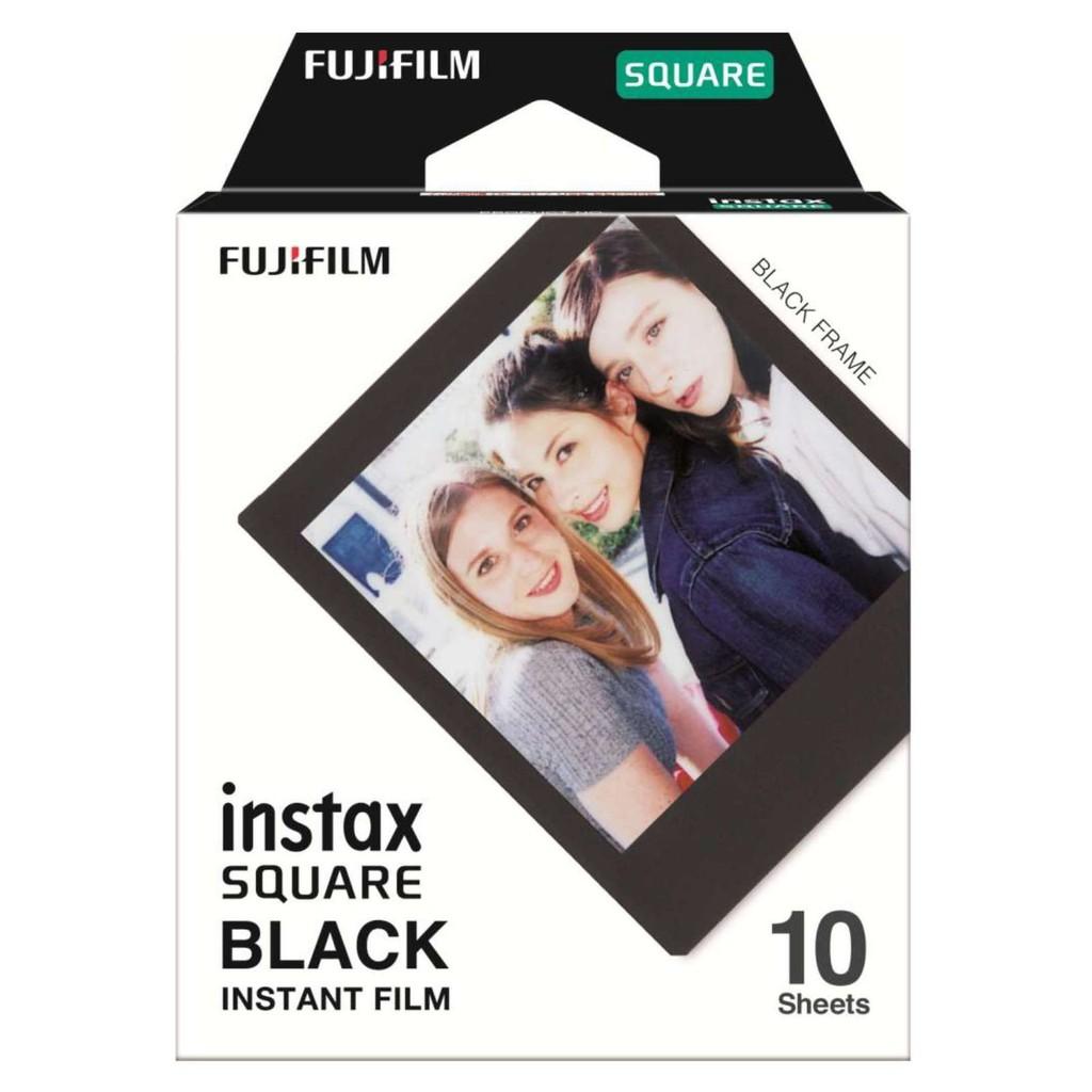 Fujifilm Instax SQUARE Film For SQ6, SQ10, SP3 (BLACK) *FREE Shipping