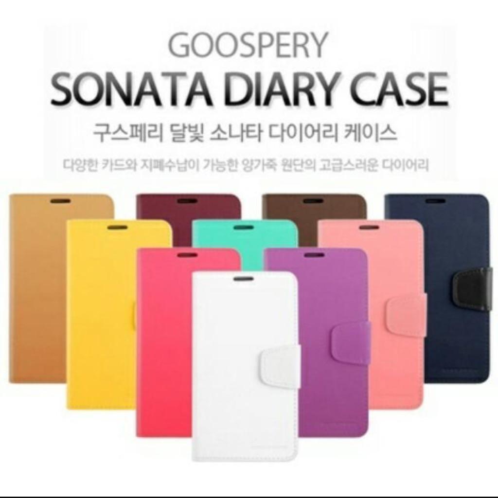 Clearance Sales Goospery Sonata Diary Case Shopee Singapore Iphone X Hybrid Dream Bumper Red