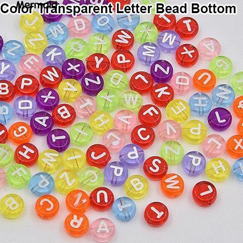 Kids Craft 100 x 7mm White Number Beads Round Alphabet Beads Bracelets