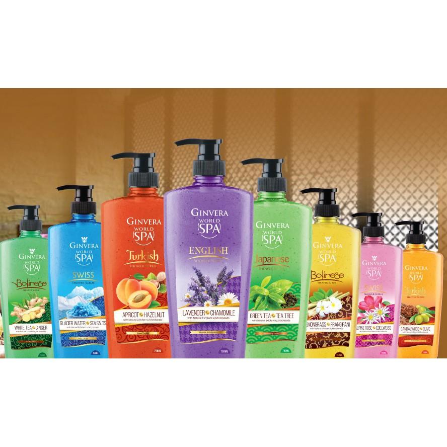 GINVERA Shower Body Shower Cream/Shower Scrub/Natural Bath