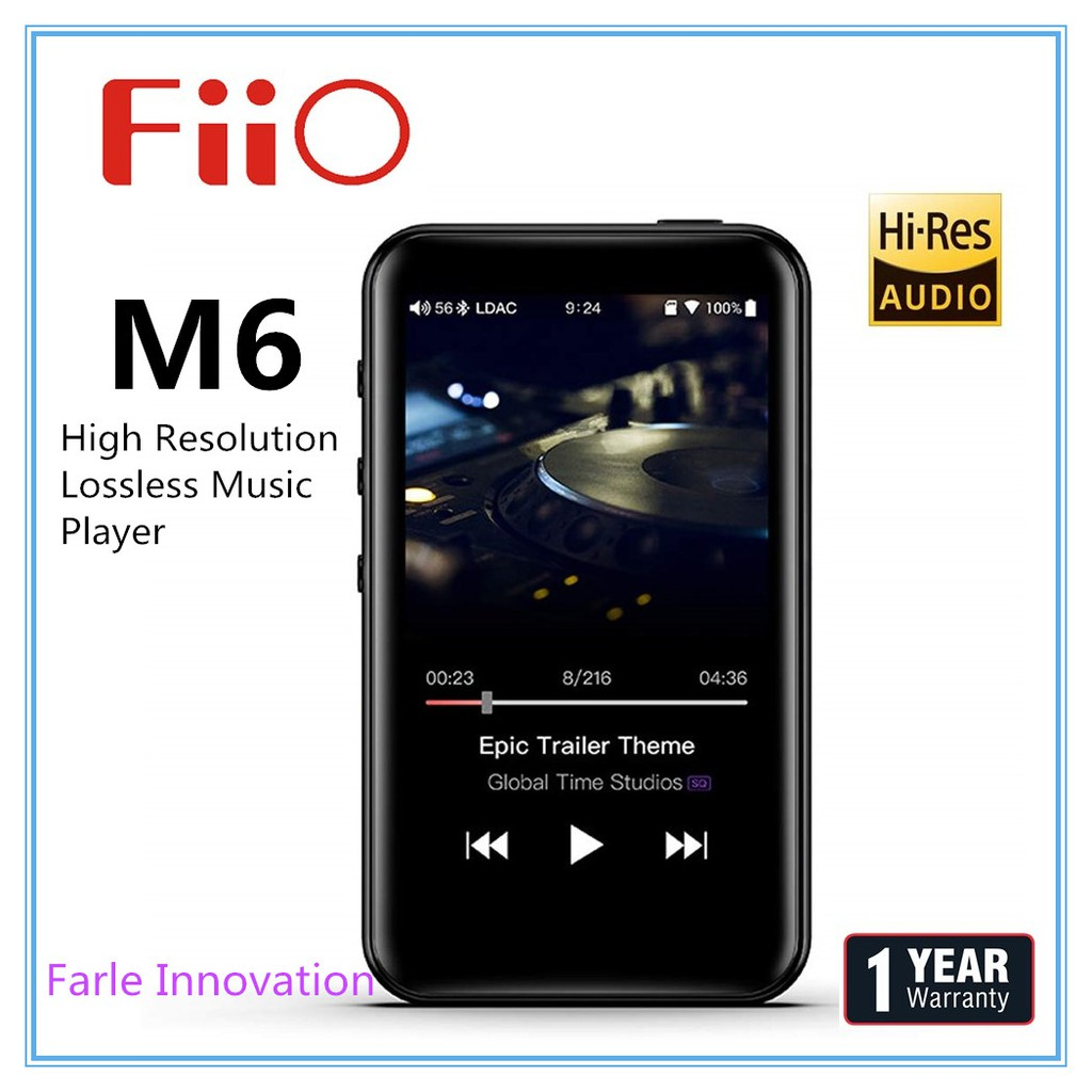 FiiO M6 High Resolution Lossless Music Player with aptX, aptX HD, LDAC HiFi  Blue