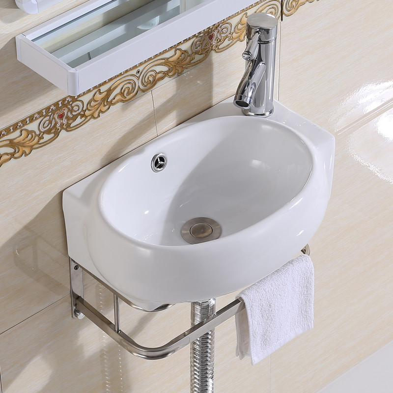 Hanging Mini Ceramic Wash Small Toilet, Sinks For Small Bathrooms Wall Mount