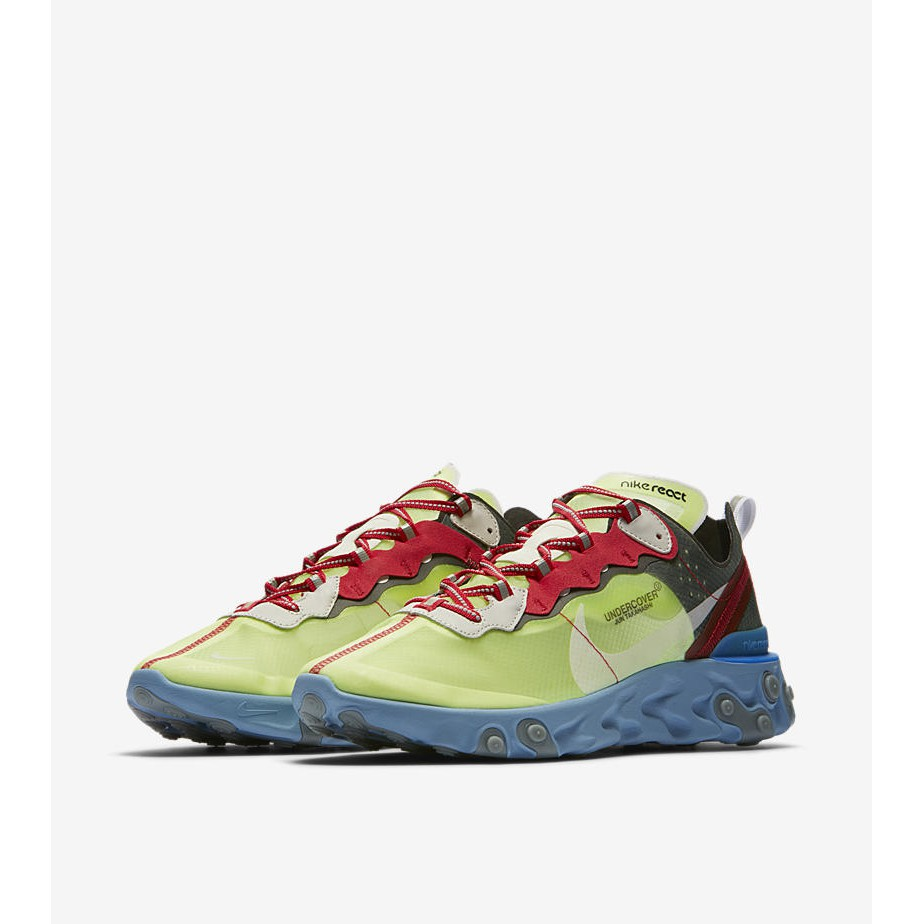 the latest 52f2d d3e8a UNDERCOVER x Epic React Element 87 Blue Chill Solar Red   Shopee Singapore