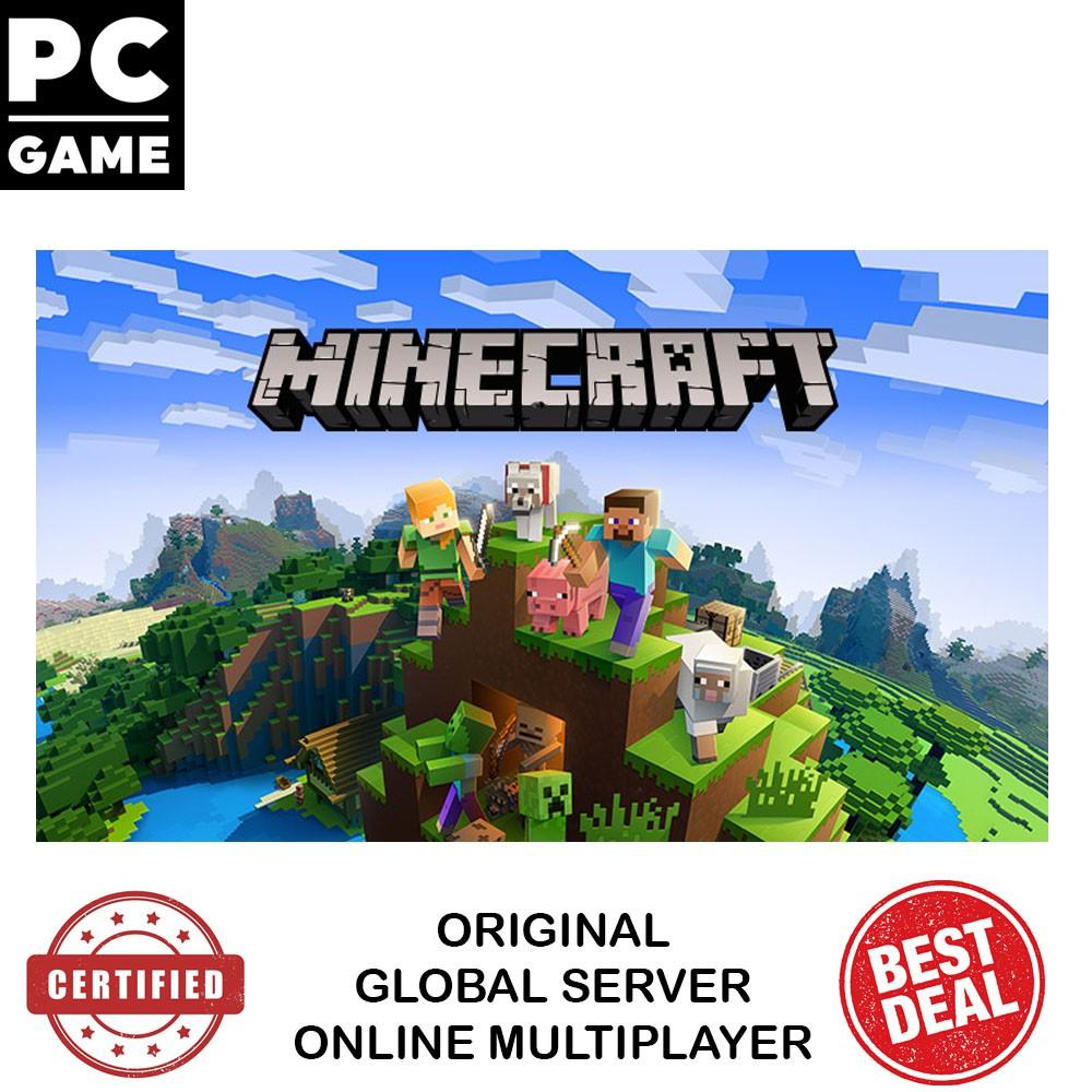 Pc Original Minecraft Windows 10 Edition Mojang Java Game Global Key Shopee Singapore