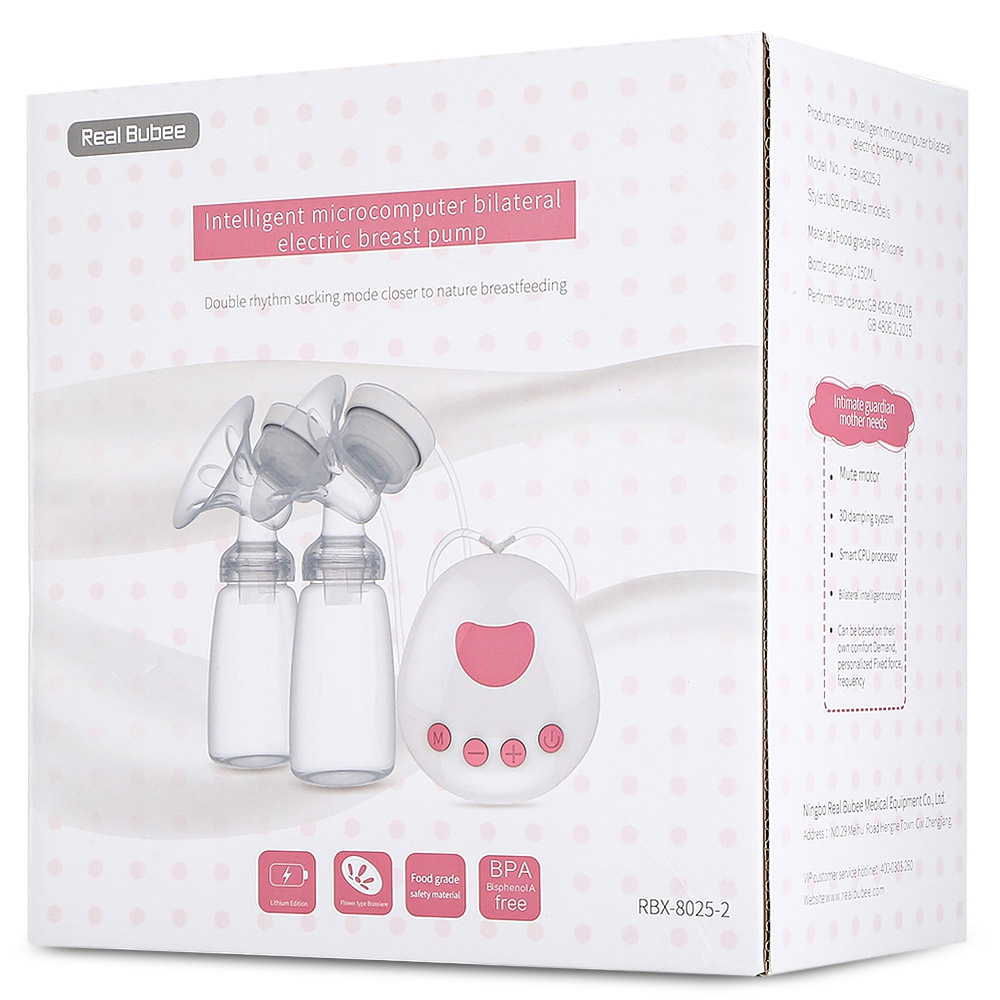 RealBubee Double Microcomputer USB Electric Breast Pump