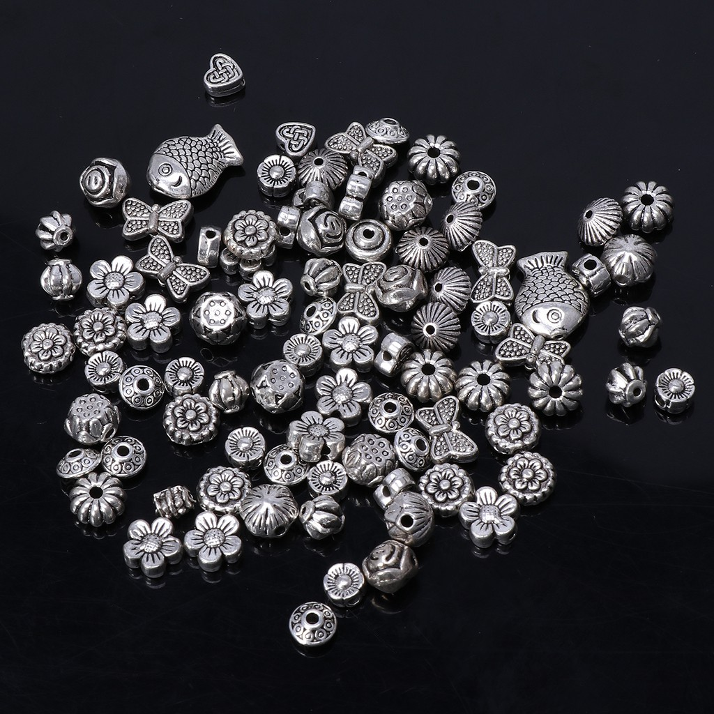 ❤ 100  Assorted Coloured HEART Acrylic Spacer Beads 8mm Jewellery Making ❤