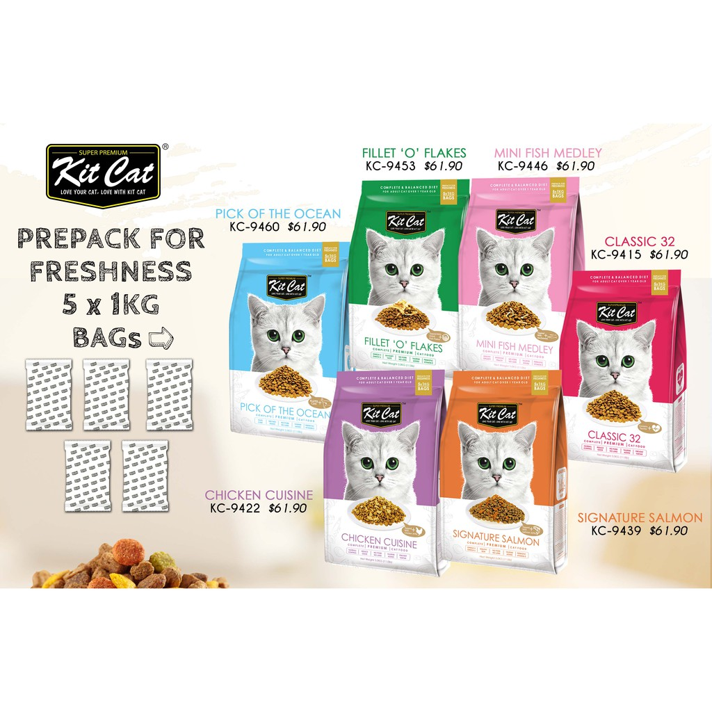 Kit Cat Kitty Crunch Promotion 880 For 4 Packs Shopee Singapore Fancy Feast Classic Savory Salmon 85g 12 Pcs Free Pillow