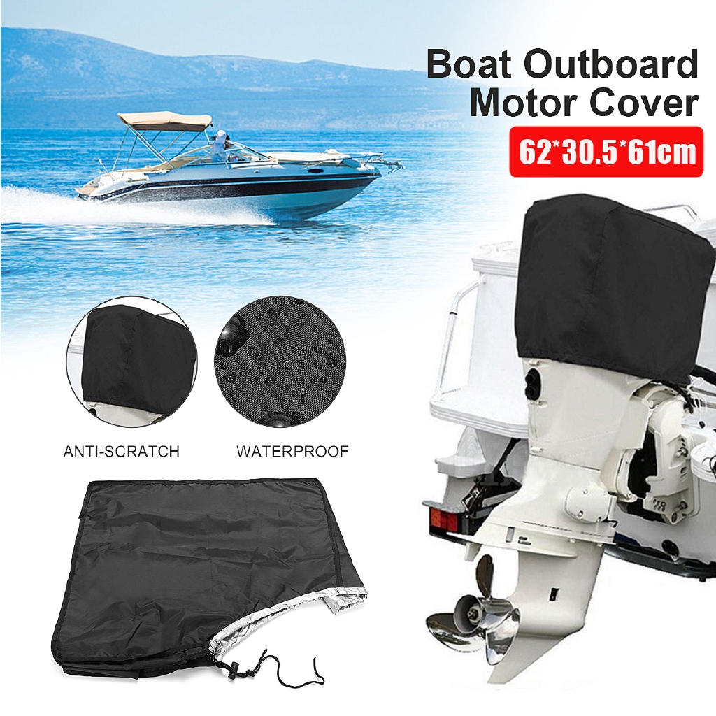 Waterproof Camo Marine Boat Outboard Motor Protector Cover for 2-15HP Engine