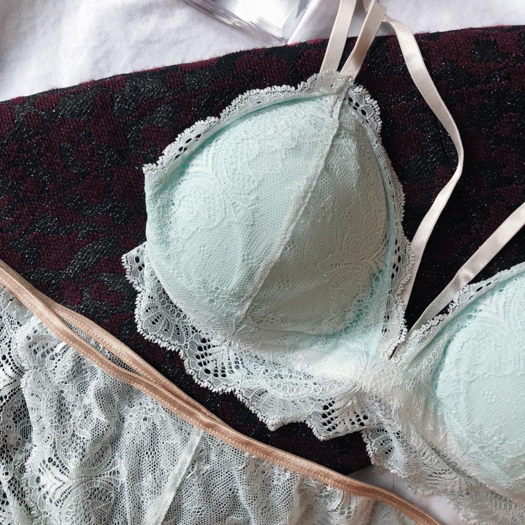 9b004b3e02ea0 Lea Blue Low Back Lace Padded Bralette (Front G Hook)