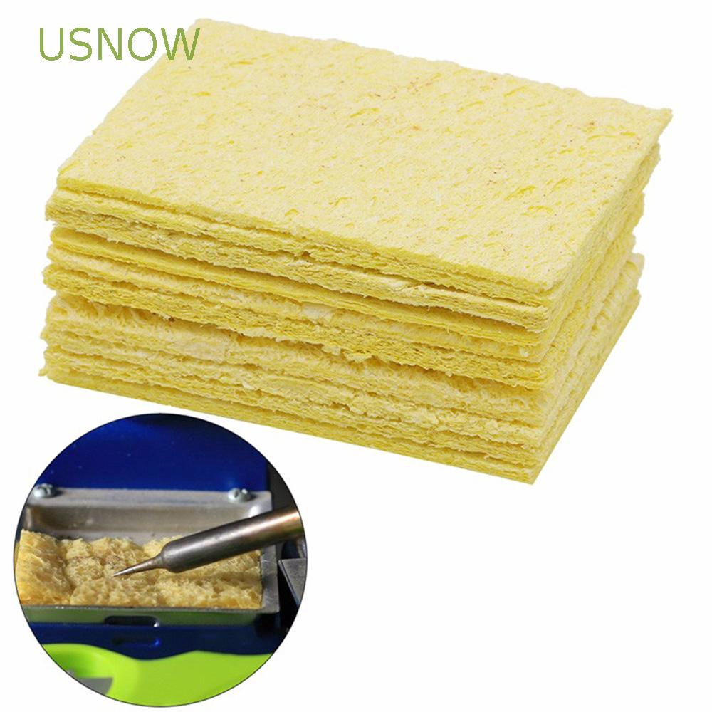 5 PCS NEW Enduring Condense Electric Welding Soldering Iron Cleaning Sponge