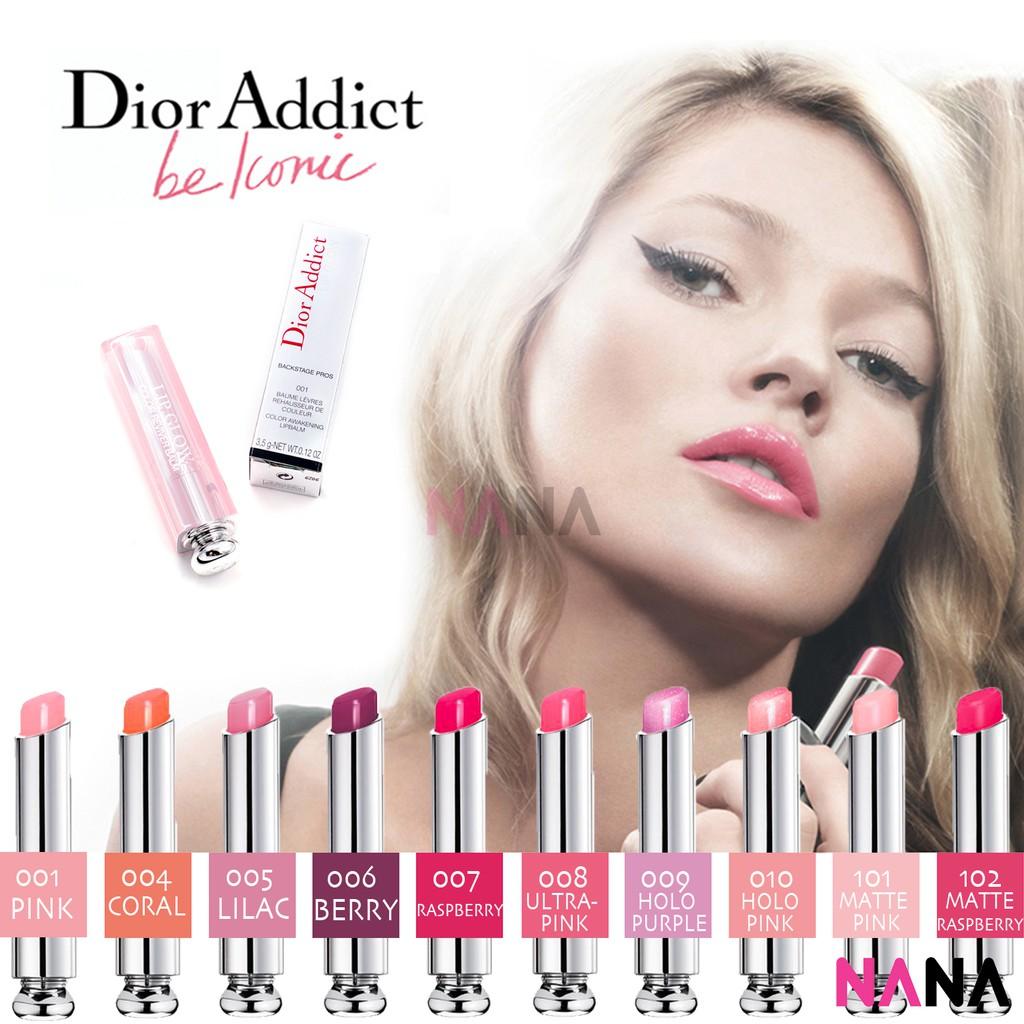 066331af Dior Addict Lip Glow Hydrating Reviver Lip Balm  #001/004/006/007/009/010/101/102