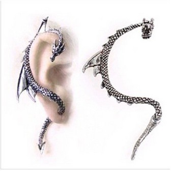 Hot European Gothic Punk Game Of Thrones Dragon Ear Cuff Dangling Ear Jewellery Box Nose Stud Pink Stud Men Alien