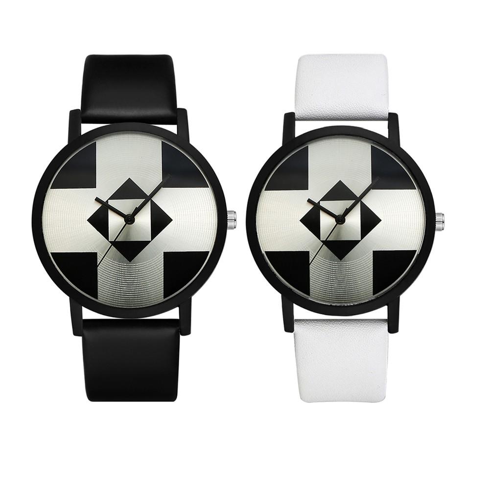 Black Square Pattern Faux Leather Band Analog Quartz Wrist Watch Lady Gift Fossil Fs5182 Set Original Pilot 54 Chronograph 44mm Fs5181 Shopee Singapore