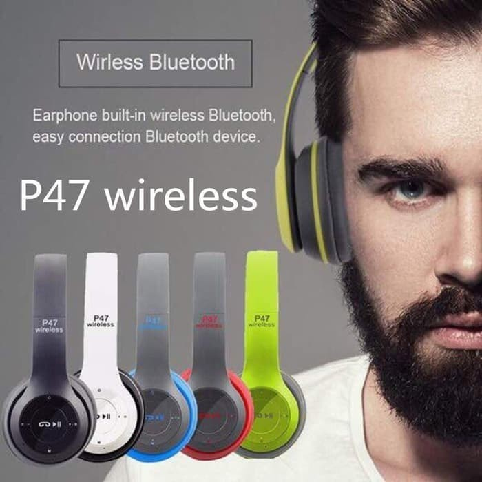 Headset Bluetooth Jbl P47 Bando Headphone Wireless Sb Shopee Singapore