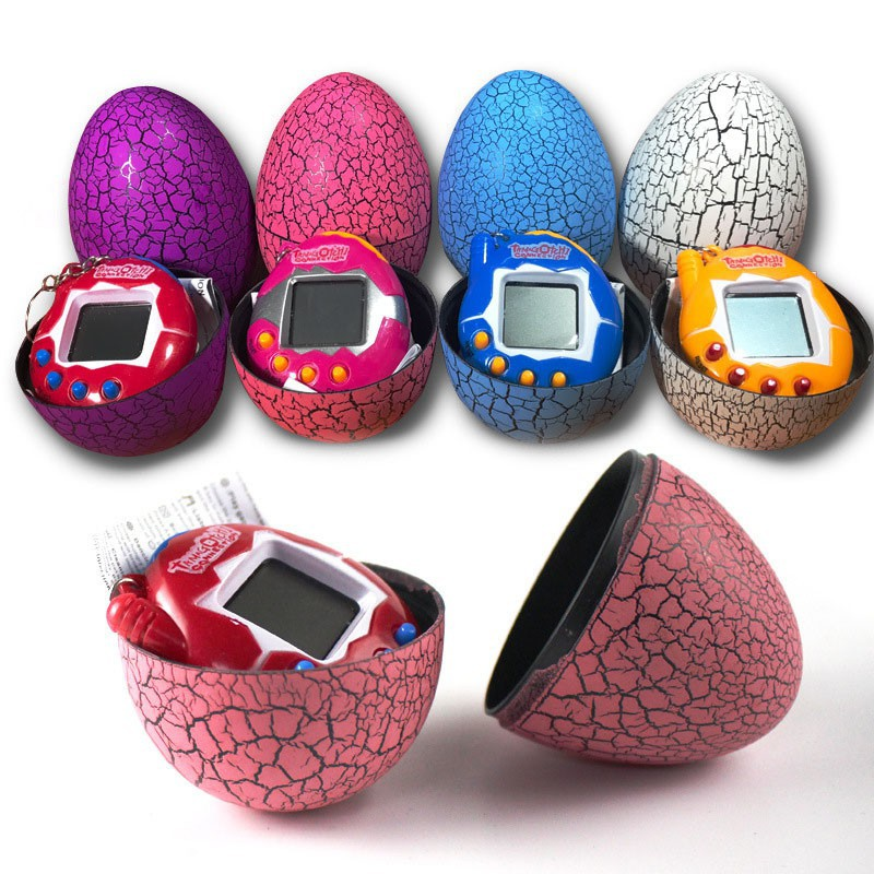 Classical Child Game Electronic Pets Toys with  Christmas 7 Colors Dinosaur Egg