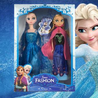 Xmas 2pcs Froz Prince Elsa//Anna Toys Soft Stuffed Plush Doll Kids Gift Toy UK^^