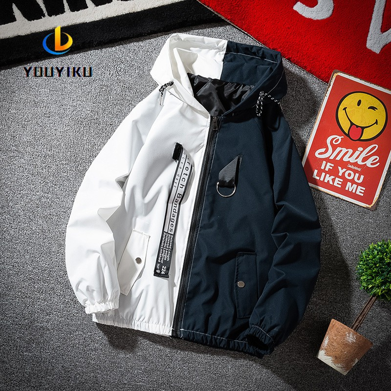 Smile-YZ Mens Casual Outdoor Windbreaker Outerwear Zipper Bomber Jackets and Coats