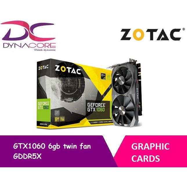 Zotac GTX1060 6gb twin fan GDDR5X graphic card (ZT-P10620A-10M)