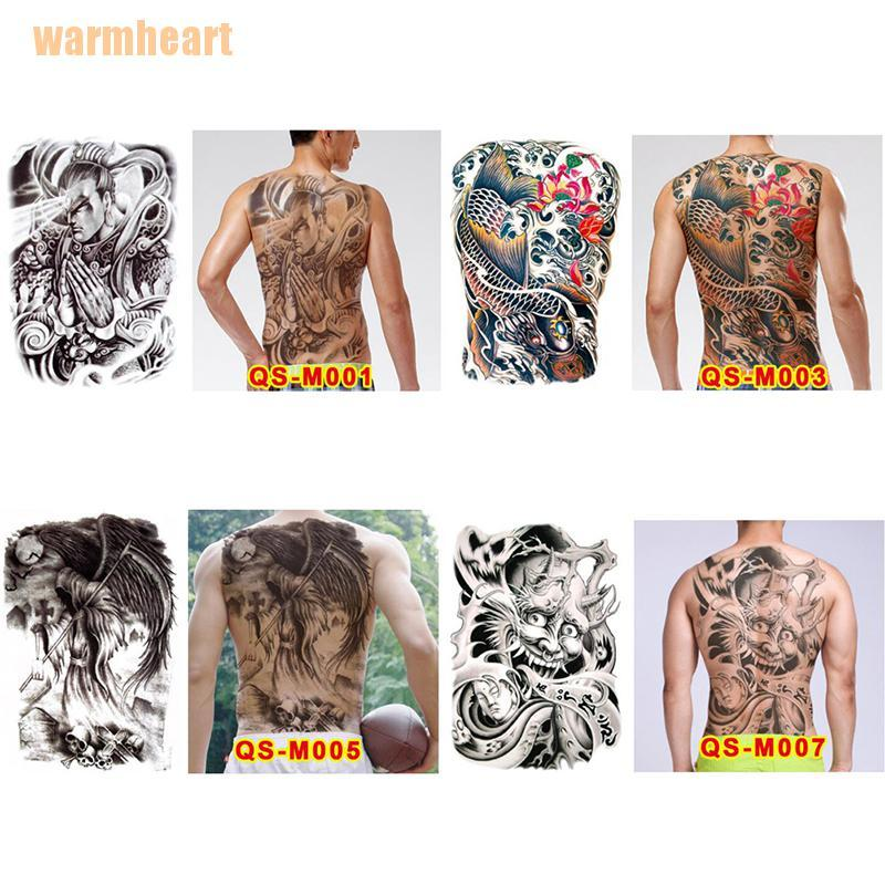 Warmheart Huge Design Full Back Temporary Tattoo Large Body Art Waterproof Sticker Shopee Singapore
