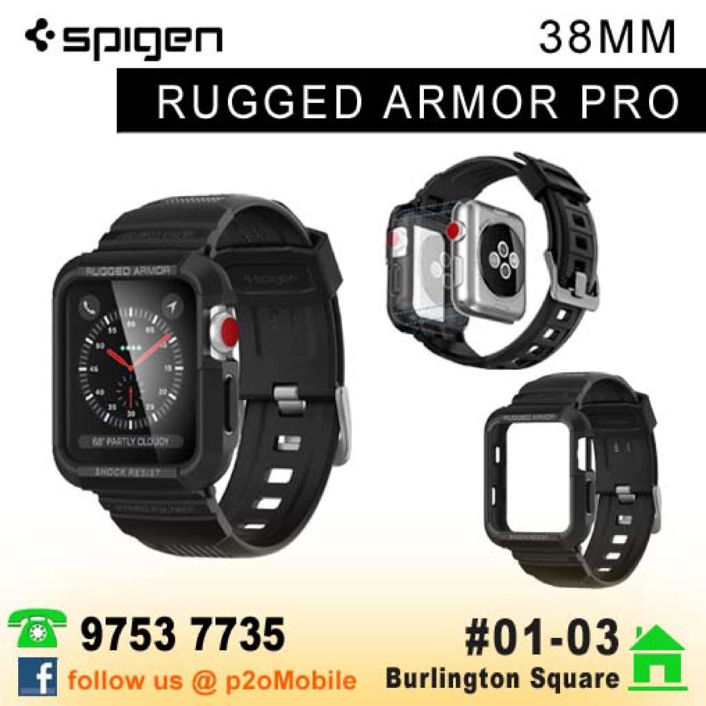 Spigen Apple Watch 3 / 2 / 1 (42mm | 38mm) Case Rugged Armor | Shopee Singapore