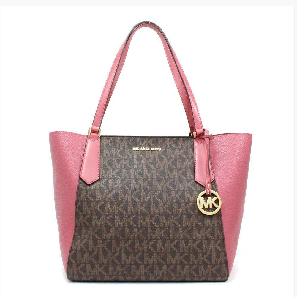 9e0e86698d405a Michael Kors Kimberly Large Bonded Tote Signature Tulip | Shopee Singapore