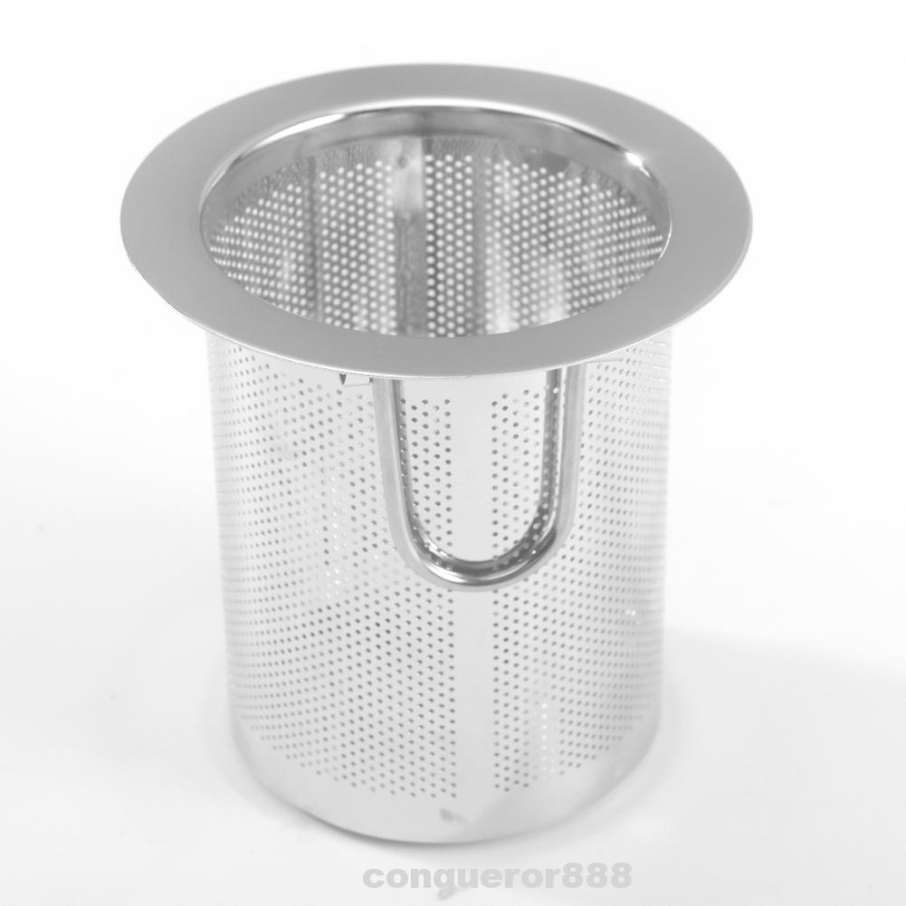 S Stainless Steel Handle Ring DAYOLY Tea Strainer Bag Tea Dripper Cloth Strainer Filter Sock Bag for Coffee Home Accessories