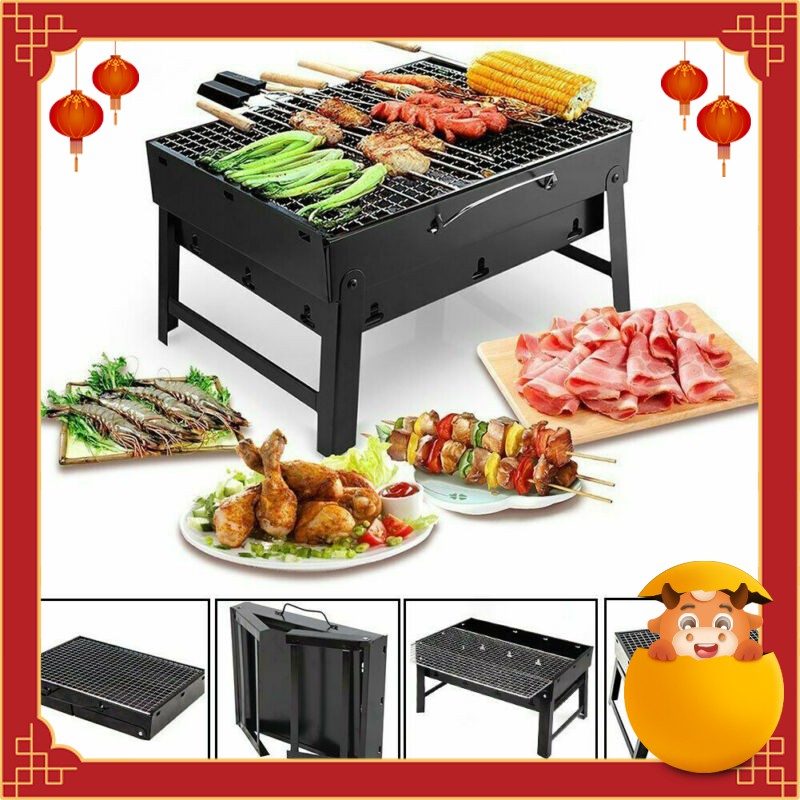 EmmAmy home Foldable BBQ grill portable stainless steel grill plate shelf  rack suitable for outdoor and indoor | Shopee Singapore