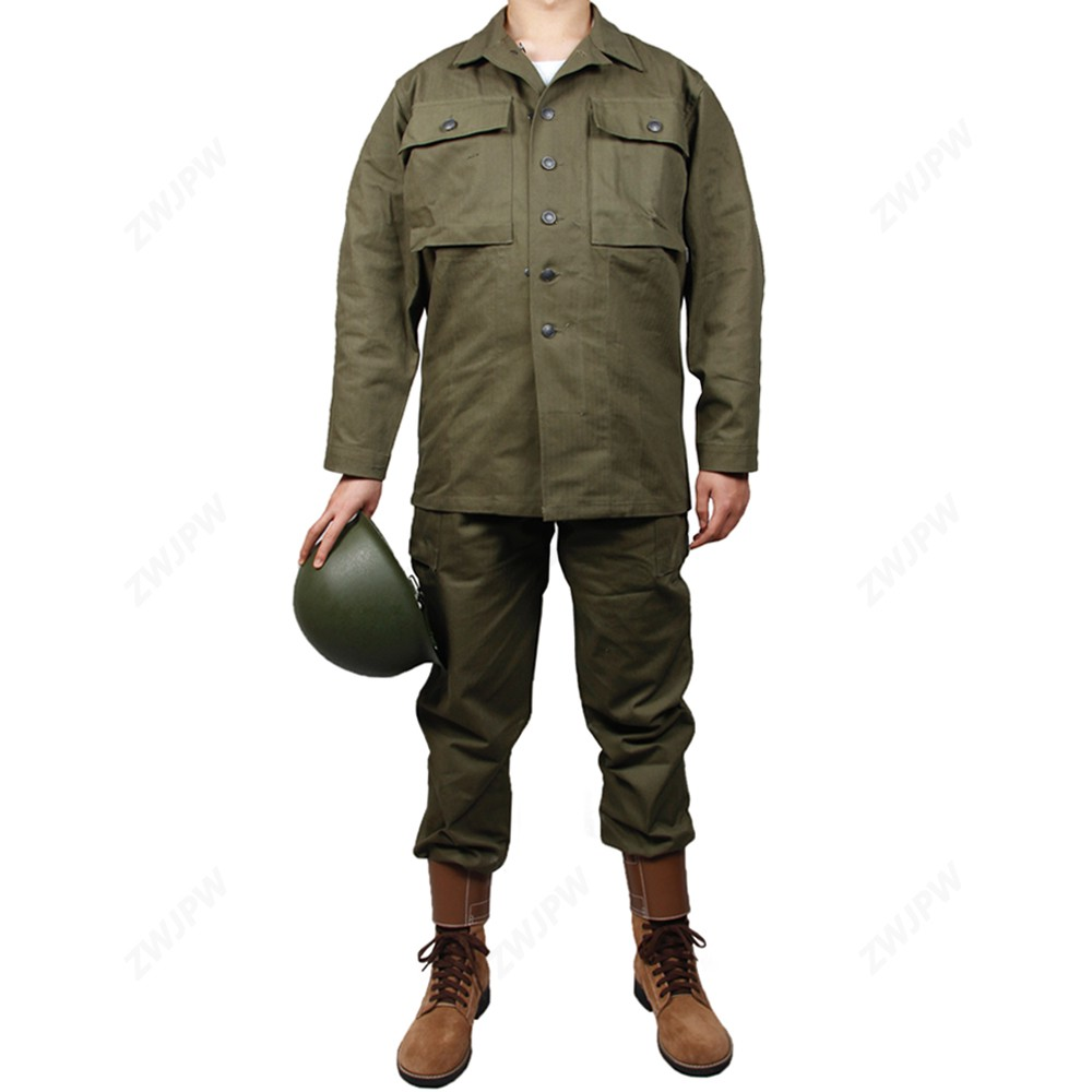 World War Ii U S Army Green Hbt Uniform Cotton High End Re Enactment Of Bloody Battle Hacksaw Ridge Landing In Normandy D Day Shopee Singapore