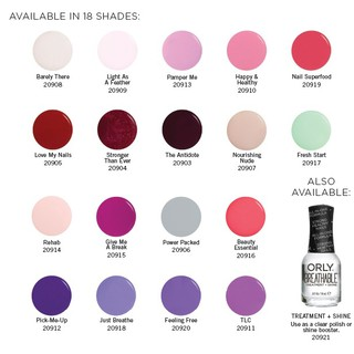 Orly Breathable Nail Polish Treatment Base Plus Color 18ml