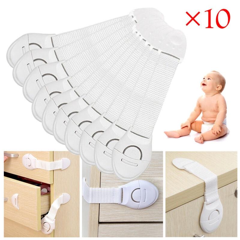 Baby Toddler Child Kids Safety Latch Lock Catch Door Cabinet Drawer Fridge10pcs