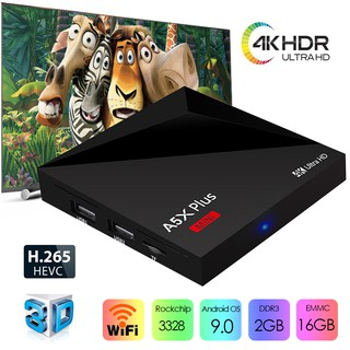 A5X Plus Mini TV Box Android 9 0 RK3328 2GB 16GB Free 7 Days