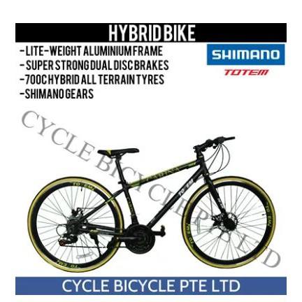 85cc4250c79 TOTEM ROAD BIKES - HYBRID BIKE/Road Bike Frame/Mountain Bike | Shopee  Singapore