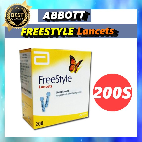 Abbott freestyle Lancets 200S / 100% Sterile Lancets [From Korea]