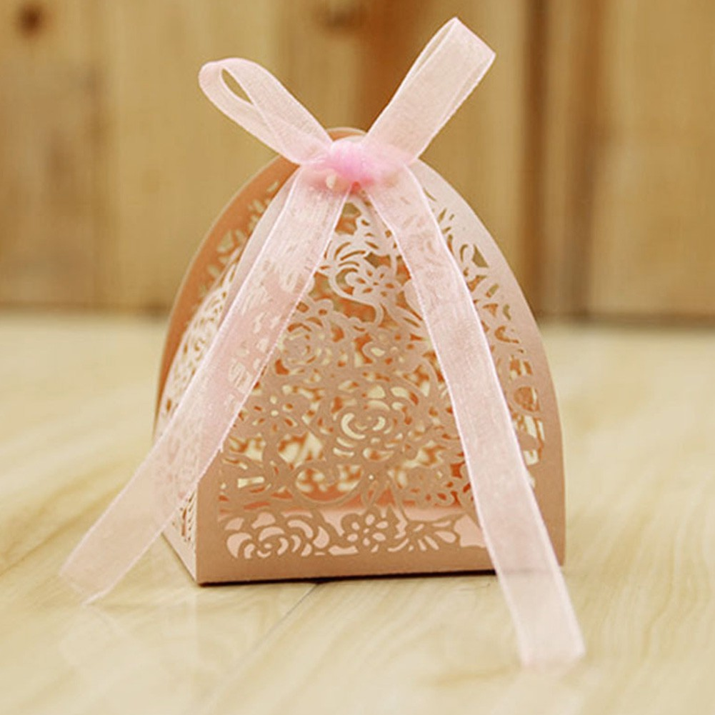 6* Heart Shape Candy Boxes Chocolate Plastic Gift Box Wedding Favor Party Decor