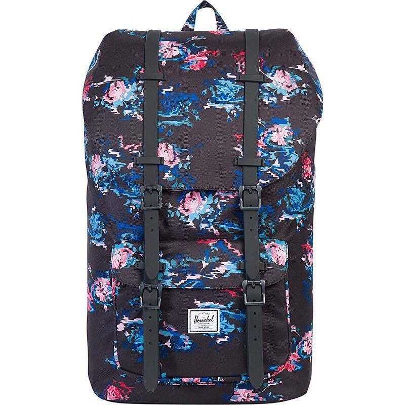 f078515f1fb3  INSTOCK  Herschel Little America Unisex Mid Volume Backpack - Purple  Marble