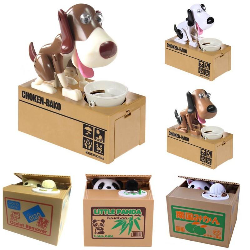 Creative Piggy Bank Panda Cat Steal Money Coin Saving Box Pot Case Storage Kids