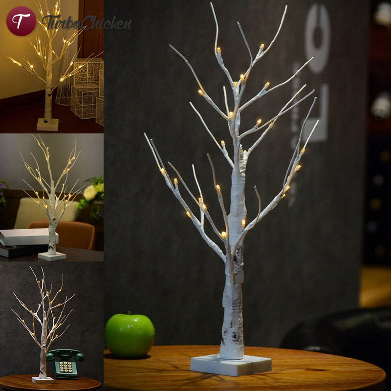 Led Silver Birch Twig Tree Lights Warm