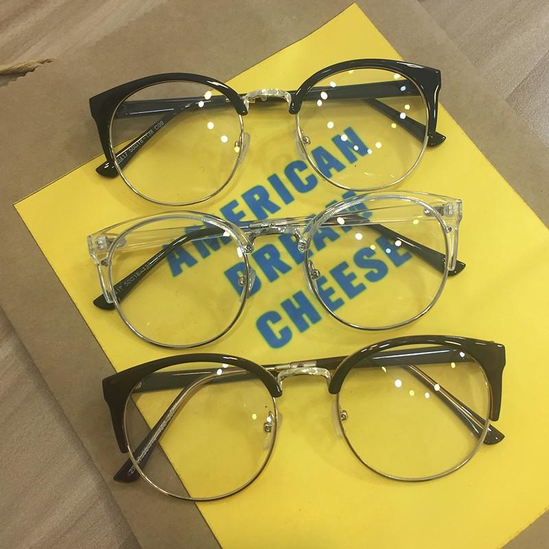a53322b417 GD Gigi Wiwen tb903 Korean side metal glasses frame semi rimless frames Wu  Shixu