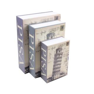 Pisa Creative Dictionary Book KeyLock Safe Money Jewellery Hidden Locker  Box SML