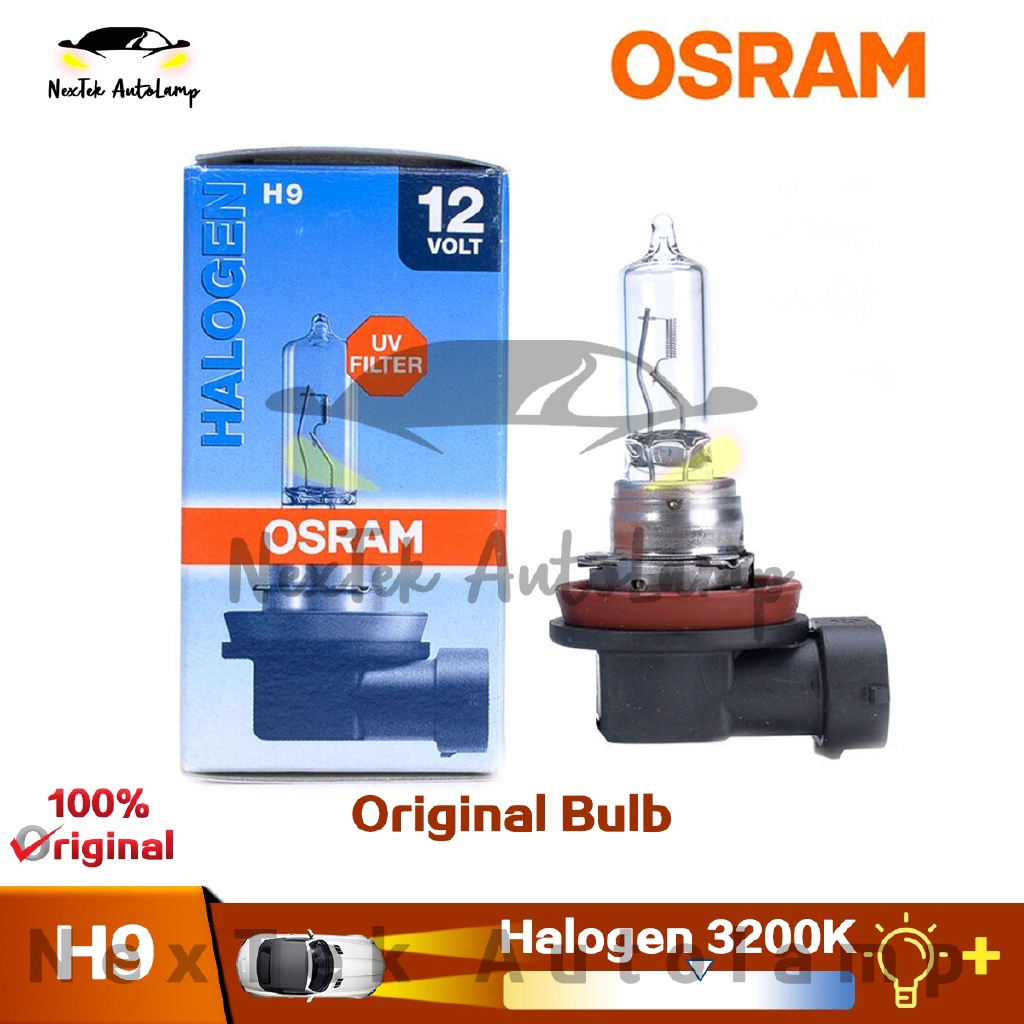 Osram H9 12v 65w 64213 Car Light Bulb Headlight High Beam Low Beam Lights Halogen Lamp Longevity Type Single Pack Shopee Singapore