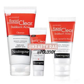 Neutrogena Rapid Clear Stubborn Acne Cleanser Mask Shopee