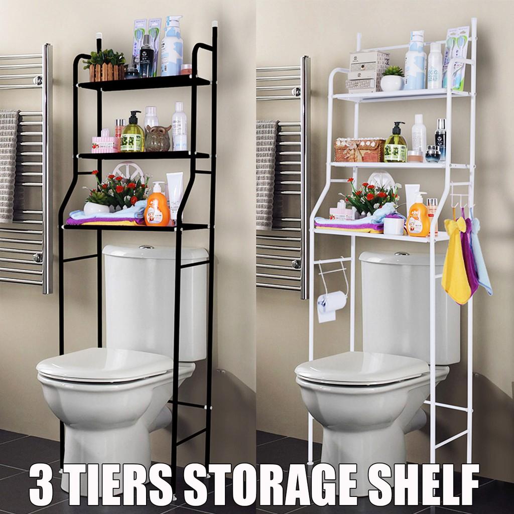 Bathroom Shelf Adhesive Lightweight Multi-functional Organizer Storage Commodity Shelf Rack For Bathrooms Balcony Kitchen Home Improvement