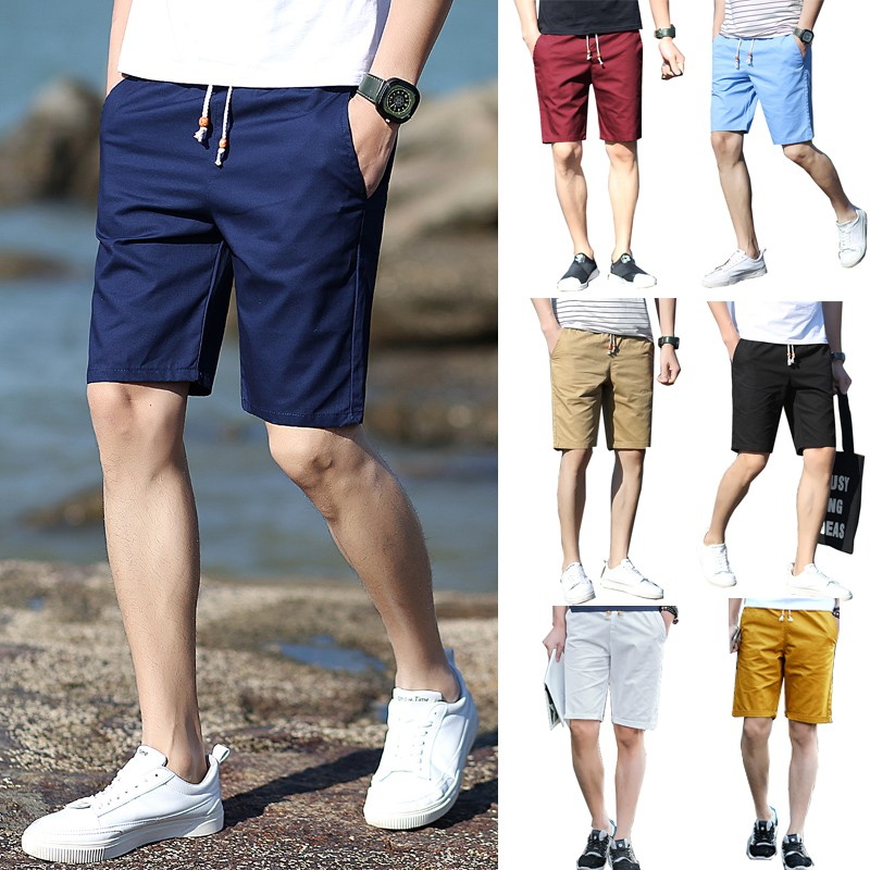 7 color Men's Pants Casual Shorts Beach Pants Sports Short Trousers Beach  Shorts 100% cotton Men's Fifth Pants Men Shorts plus Size Fashion casual  Beach shorts   Shopee Singapore